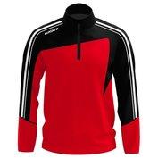 Zip-sweater Forza Rood - Zwart
