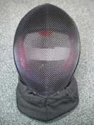 Universal Mask 350 N with black bib for fencing coach