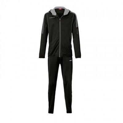 Hooded jacket barça zwart/zilver