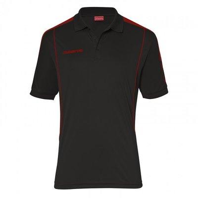 Polo barça zwart/rood
