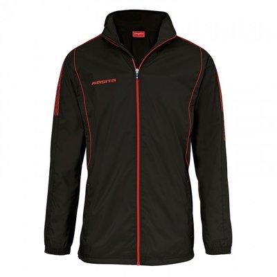 Windbreaker barça zwart/rood