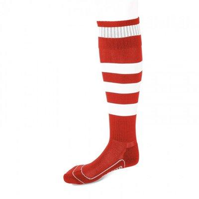 kousen geheel geringd barça rood/wit