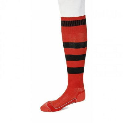 kousen geheel geringd barça rood/zwart