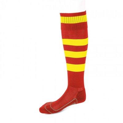 kousen geheel geringd barça rood/geel