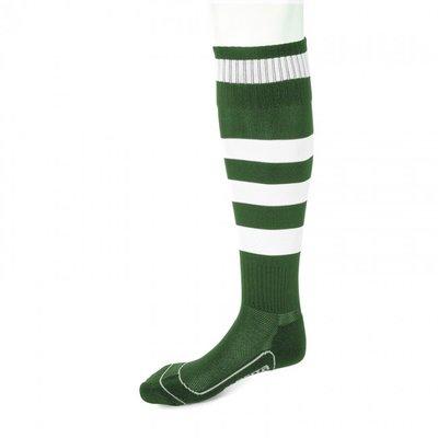 kousen geheel geringd barça groen/wit