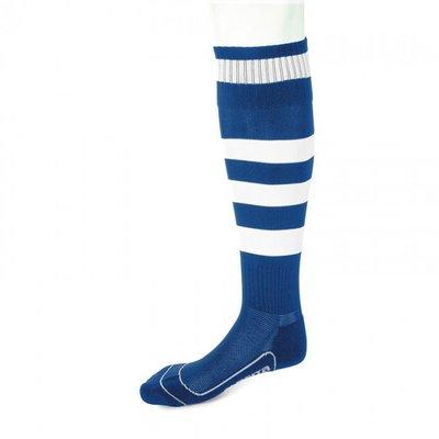 kousen geheel geringd barça royal blauw/wit