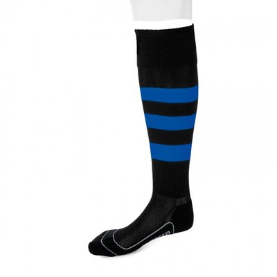 kousen geheel geringd barça zwart/royal blauw