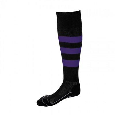 kousen geheel geringd barça zwart/paars
