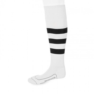 kousen geheel geringd barça wit/zwart