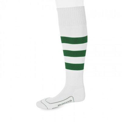 kousen geheel geringd barça wit/groen