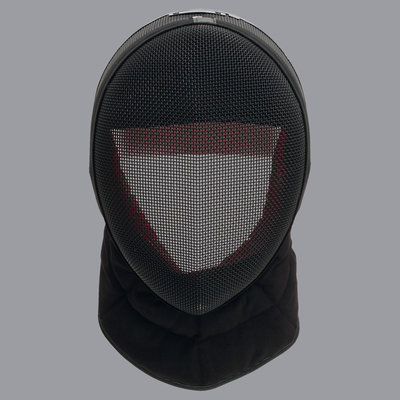 FIE-fencing mask INOX 1600N with black bib for fencing coach