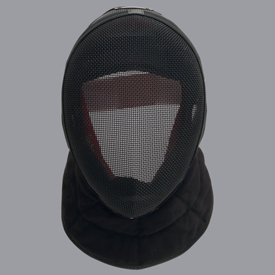 "Allstar universal mask Inox FIE ""Comfort"" Comfort Plus 1600N with black bib for fencing coach"
