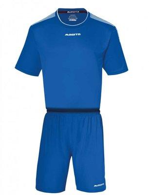 Sportshirt KM sevilla royal blauw/wit
