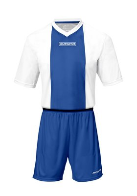 Sportshirt KM ajax wit/royal blauw