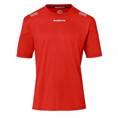 Damesshirt porto rood/wit