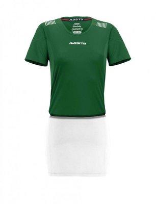 Damesshirt porto groen/wit