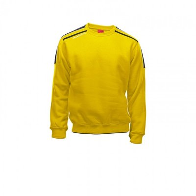 Sweater striker geel/zwart