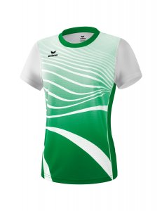 ATHLETIC t-shirt function smaragd/white