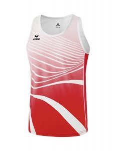 Singlet rood/wit