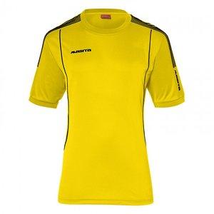 T-shirt barça geel/zwart