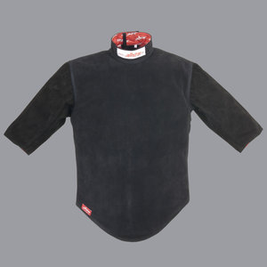 leather vest LW 2 with 2 short sleeves and zipper on the back - Alcantex