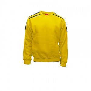 Sweater striker geel/zwart