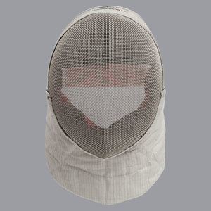 """Allstar Electric Sabre Mask Inox FIE """"Comfort Plus"""" 1600N, incl. connecting cable."""