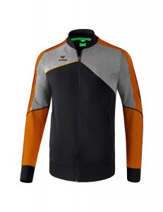 PREMIUM ONE 2.0 presentation jacket black/grey melange/neon orange