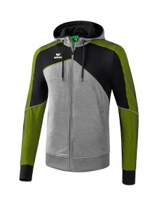 PREMIUM ONE 2.0 training jacket wit grey-melange/black/lime pop