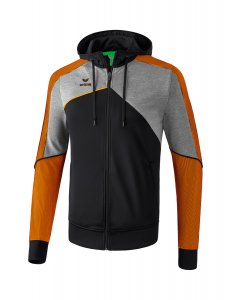 PREMIUM ONE 2.0 training jacket wit black/grey melange/neon orange
