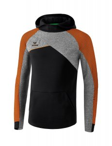 PREMIUM ONE 2.0 hoody black/grey melange/neon orange
